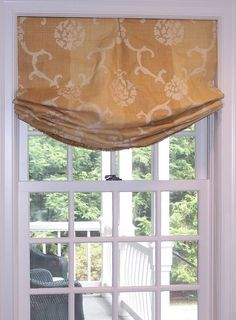 Style for Kitchen Windows - Relaxed roman shade by diann's work, via Flickr