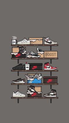 Sneakers Wallpaper, Shoes Wallpaper, Hype Wallpaper, Screen Wallpaper, Cartoon Wallpaper, Cool Wallpaper, Iphone Wallpaper Off White, Nike Wallpaper Iphone, Aesthetic Iphone Wallpaper