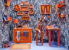 Zim and Zou Create A Fox's Den From Leather and Paper for Hermès