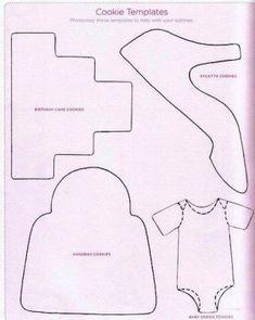 Cake, purse & shoe templates