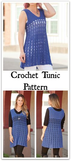 Bit Of Lace Tunic Crochet Pattern, perfect for layering. Instant PDF download. #ad #affiliate #crochet #pattern