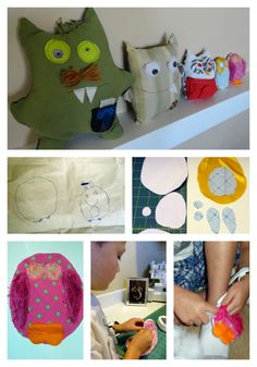 Holy Craft - boys draw and sew a stuffed pet