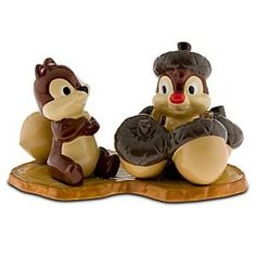 Chip 'N Dale with nuts 3-piece salt & pepper shaker set Limited Edition: 500 Product Size: Chip: 3 inches tall Dale: 3.25 inches tall  Base: 6 inches wide x 3.5 inches deep
