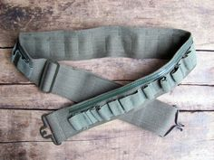 vintage c. 1960s olive drab cartridge belt ml by MouseTrapVintage, $16.00