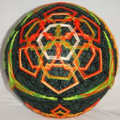 This is my least favorite section of this temari. I think I would like it better if it had more rows.