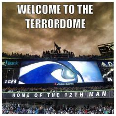 Seattle Seahawks - The Man is The Loudest. Holding the record in Seahawks Gear, Seahawks Fans, Seahawks Football, Nfl Football Teams, Best Football Team, Baseball Games, Seattle Sounders, Seattle Seahawks, Seattle Football
