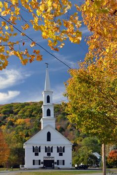 Historic First Congregational Church in Newfane, Vermont