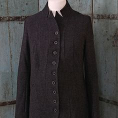 Anthra Check Coat with Stand up Collar - Rundholz