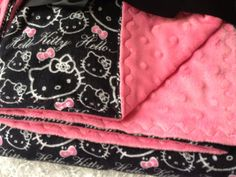 Flannel Hello Kitty Baby Gift Set on Etsy, $35.00
