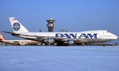 "Pan American World Airways Boeing 747-121 N735PA ""Clipper Spark of the Ocean"" at Paris-Orly, January 1985. (Photo: R.N. Smith Collection)"
