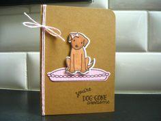 Dog Thank You Card Doggy Birthday Card Dog Lover by apaperaffaire