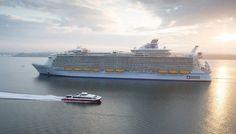 "The biggest cruise boat in the world, ""Harmony of the Seas"" Royal Caribbean International, Southampton, Biggest Cruise Ship, Cruise Insurance, Sail World, Harmony Of The Seas, Travel News, Travel Advice, Caribbean Cruise"