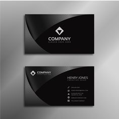 Business card logo maker lovely shiny black business card free vector of be