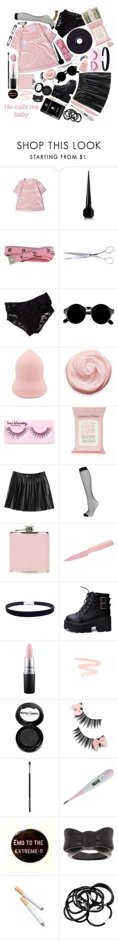 """""""▪ We're Broken People ▪"""" by xx-pretty-boy-xx ❤ liked on Polyvore featuring WithChic, Christian Louboutin, El Casco, Honeydew Intimates, Retrò, Forever 21, Topshop, Kuhn Rikon, Jack Spade and MAC Cosmetics"""