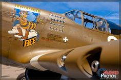 "North American P-51C-10NT Mustang named ""Boise Bee."" Painted in the markings of Boise, ID native and 5 time WWII Fighter Ace Lt. Col Duane W. Beeson. The ""Boise Bee"" and Beeson flew in the 334th Fighter Squadron, 4th Fighter Group, Eighth Air Force in England."