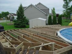 close up deck edge above ground pool - Google Search