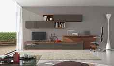 Discover recipes, home ideas, style inspiration and other ideas to try. Desk In Living Room, Interior Design Living Room, Home And Living, Living Room Designs, Home Room Design, Home Office Design, Muebles Living, Cuisines Design, Room Decor