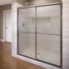 "Basco Deluxe 71.5"" x 42"" Framed Bypass Sliding Shower Door Glass Type:"