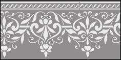 Ottoman Border No 6 stencils, stensils and stencles
