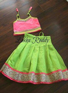 Baby Girl Dress Patterns, Dresses Kids Girl, Kids Outfits, Baby Dresses, Kids Indian Wear, Kids Ethnic Wear, Baby Lehenga, Kids Lehenga, Kids Blouse Designs