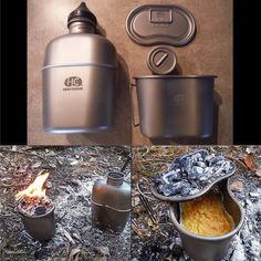 $30-$145 - Titanium or stainless steel canteen and canteen cup. You can't beat the versatility and durability of metal. Make it titanium and you've solved the high-weight problem. The top-of-the-line kit pictured is made by HeavyCover, but a stainless version would be more than satisfying for years of rugged, backcountry exploration. I love the GI design and butterfly-style handle.