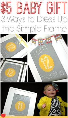 Free Baby Monthly Milestone Printables and Cheap Gift Idea #Cheap #baby #printables baby nursery decor