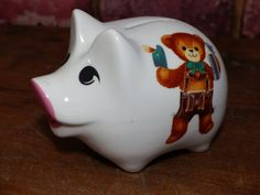 Shop for on Etsy, the place to express your creativity through the buying and selling of handmade and vintage goods. Piggy Banks, Lederhosen, The Prestige, Pin Collection, Bears, Cool Stuff, Creative, Germany, Handmade