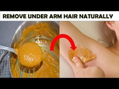 Hair removal : Remove underarm hair Naturally in 2 Minutes   Best Underarm Hair Removal - YouTube