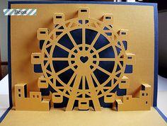 Ferris Wheel Kirigami Pop Up Card https://www.facebook.com/BcozCard