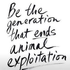 please…my generation fucked that up…please be the generation that ends animal cruelty of any kind