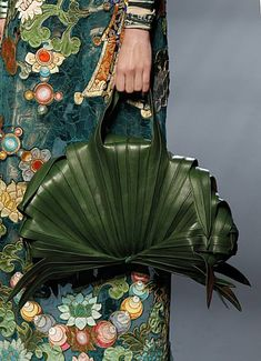 Palm leaf evening bag