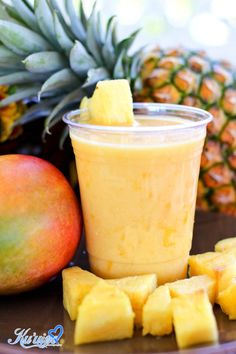 Mango drink, Tropical drink, Otai, Pineapple, Mango, Tongan, Hawaiian, Summer drink, Luau, Must try!