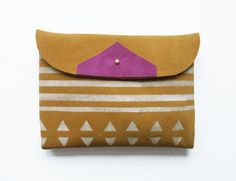 """Style Giveaway! Create a board with the word """"Annie"""" anywhere in the board name AND add this pin. Then this Friday (7/19) my favorite board will receive this beautiful handmade soft suede clutch from BlackbirdAndTheOwl! Good Luck!"""