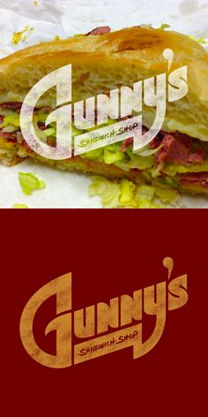 Logo design for Gunny's Sandwich Shop.