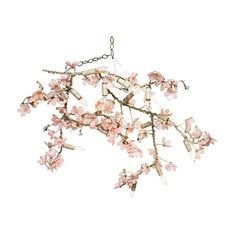 Branches Chandelier Pink Ceiling Chandeliers ($5,679) ❤ liked on Polyvore featuring home, lighting, ceiling lights, appliance, canopy designs chandelier, tree branch chandelier, branch lights, pink chandelier and pink chandelier lighting