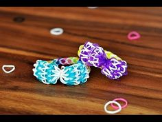 Super cute for a Minnie Mouse party. How to make a Bow with ONE Rainbow Loom.  Bandaloom, Rainbow Loom Tutorial, new patterns, new designs, how to make rubber band bracelet, easy pattern for rainbow loom.