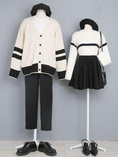 Fashion Couple, Cute Fashion, Fashion Outfits, Fashion Illustration Dresses, Matching Couple Outfits, Casual Outfits, Cute Outfits, Japan Fashion, Korean Outfits