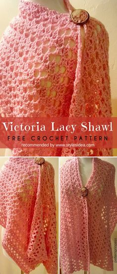 Victoria Lacy Shawl Free Crochet Pattern and Tutorial #crochetscarf #crochetwrap #crochetfreepatterns #crochetshawl #freecrochetpatternsforshawl