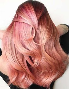 41 Cutest Pink Hair Colors for Long Thick Hair in 2018