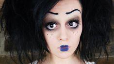 Tim Burton Inspired Character Makeup, via YouTube.