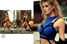 jogo limpo: madison headrick by kevin sinclair for elle brazil december 2014