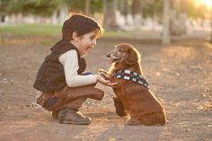 A Boy & his Wookie.