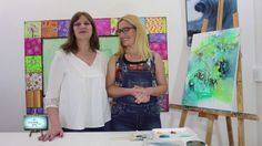2ª PARTE!! Nora Pareja , abstracto  técnicas y colores de este hermoso c...