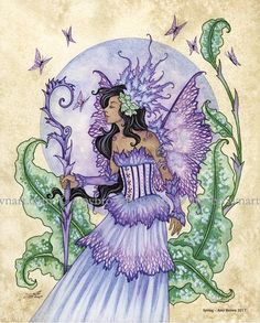 Spring fairy 8X10 PRINT by Amy Brown