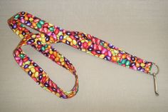 Jellybeans  handmade fabric lanyard by doodlebugquilts on Etsy (Accessories, Lanyard, Id, keychain, id, fabric, handmade, women, men, jelly beans, colorful, easter, beans)