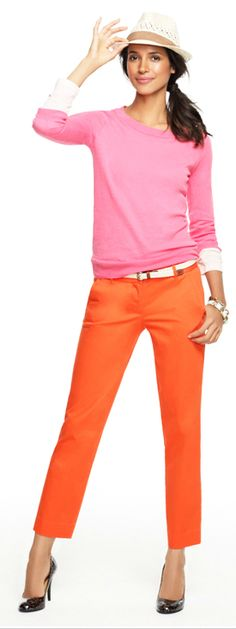 orange pants + color