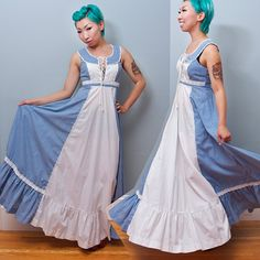 Prairie Fairy Princess Dress!  Vintage Gunne Sax Jessica McClintock Prairie Maxi by Shrinkle, $117.00