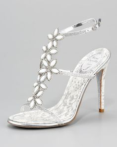 Why is it that every shoes I picked is already sold out? :'( Rene Caovilla Floral-Strap Sandal.