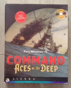 juego pc command aces of the deep sierra 1995 cd-rom
