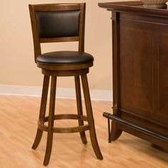 Hillsdale Dennery 24 in. Swivel Counter Stool - Cherry - Bar Stools at Hayneedle